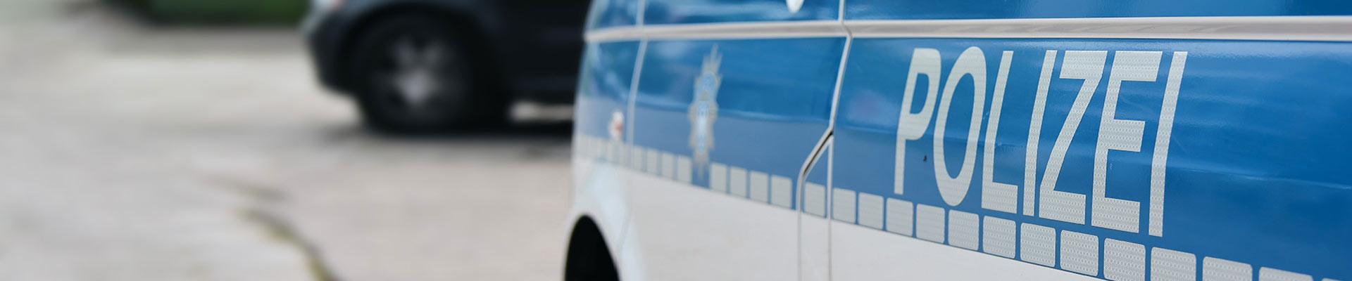 Autobeschriftung für Polizei-Auto in Stuttgart