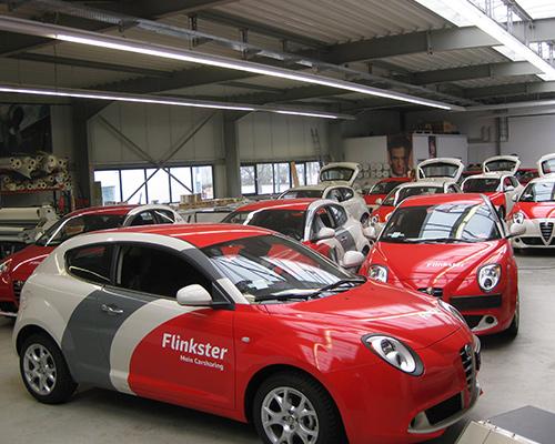 Flottenbeschriftung von Firmenfahrzeugen
