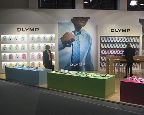 Messestand-Banner für Klamotten-Marke