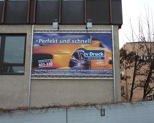 Spannrahmen-Werbeplakat mit Beleuchtung