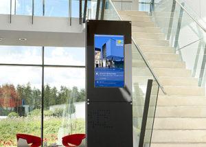 Digitales Wegeleitsystem im Bürogebäude