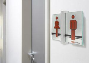Toiletten-Schild