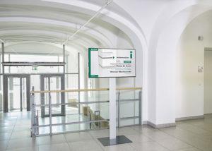 Wegeleitsystem in einem Gebäude